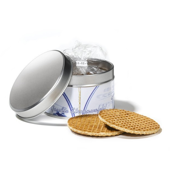 5 syrupwaffles in tin with label