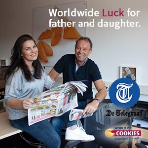 Father and daughter ready to spread luck worldwide
