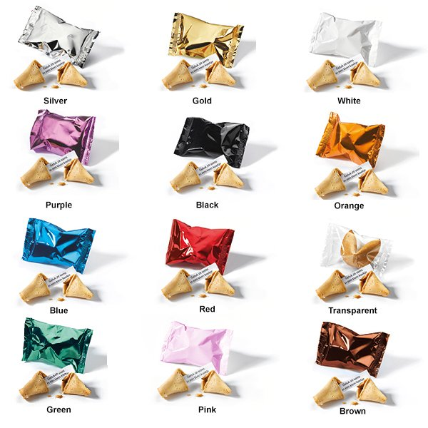 Fortune Cookie colours of wrappers